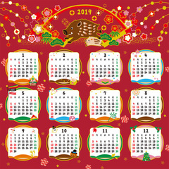 The pattern of the calendar